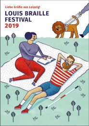 Illustration Braille-Festival Leipzig 2019 (Bildnachweis: Robert Deutsch)